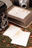 册页老照片 免版税库存图片