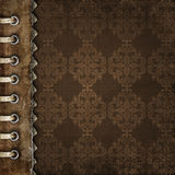 册页褐色盖子 图库摄影