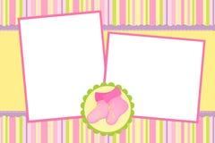 册页婴孩照片s模板 免版税库存照片