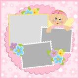 册页婴孩照片s模板 免版税图库摄影