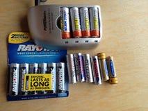 再充电电池 免版税图库摄影