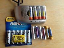 再充电电池 库存图片