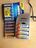 再充电电池 免版税库存图片