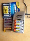 再充电电池 免版税库存照片