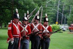 1812再制定加拿大天战争  免版税图库摄影