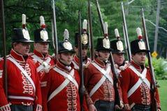 1812再制定加拿大天战争  免版税库存照片