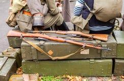 再制定捷克斯洛伐克的军队的武装的行动在的 库存图片
