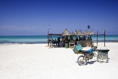 再访的海滩pary 库存图片