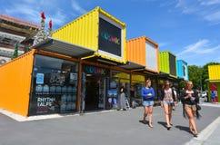 再:开始 购物中心在克赖斯特切奇-新西兰 免版税图库摄影