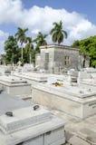 冒号公墓在2015年11月29日的Vedado在哈瓦那,古巴 免版税库存图片