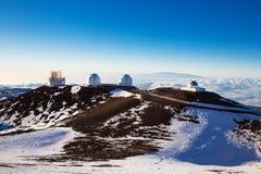 冒纳凯阿火山望远镜 免版税库存照片
