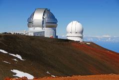 冒纳凯阿火山的,夏威夷观测所状态高峰 免版税库存图片