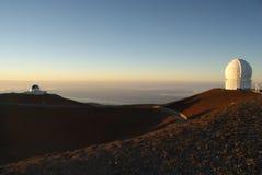 冒纳罗亚火山观测所,夏威夷 库存照片