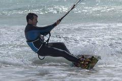 冒险体育风筝海浪自由式 库存图片