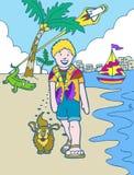 冒险佛罗里达孩子假期 图库摄影