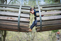 冒险公园乐趣 免版税图库摄影