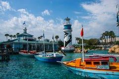 冒险公园海世界的入口在奥兰多 免版税库存照片