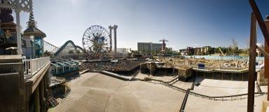 冒险加利福尼亚建筑迪斯尼乐园panor 免版税库存照片