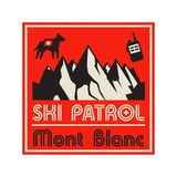 冒险室外远征滑雪巡逻 库存例证