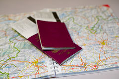 冒险护照 免版税库存图片