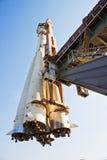 冒险旅行准备好的空间太空飞船沃斯&# 库存图片