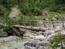 冒险桥梁横穿小河 免版税库存图片