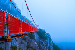 冒险桥梁  图库摄影