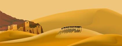 冒险沙漠 皇族释放例证