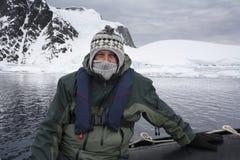 冒险游人-南极洲 库存图片
