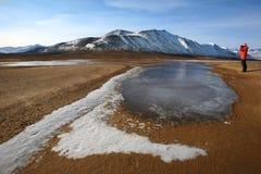 冒险游人-格陵兰 免版税库存图片