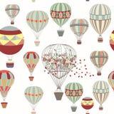 冒险的 与气球的例证在葡萄酒行家st 向量例证