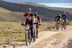 冒险自行车竞争山 库存图片