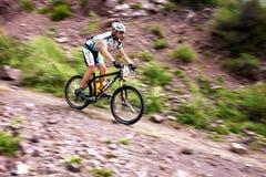 冒险自行车竞争山 免版税库存图片