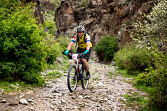 冒险登山车横越全国的竞争 库存图片