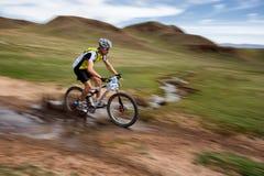 冒险登山车横越全国的马拉松 图库摄影