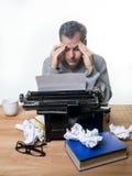 写书的作者 免版税库存照片