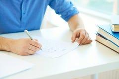 写作课测试 免版税库存图片