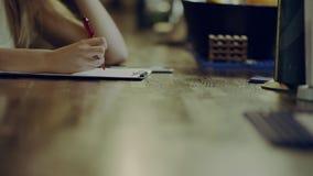 写在剪贴板在酒吧 股票录像