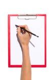 写在剪贴板 免版税库存图片