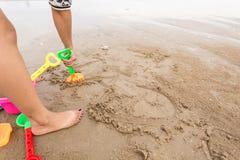 写在沙子 免版税图库摄影