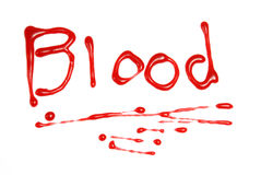 写在血液 图库摄影