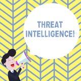 写威胁智力的手写文本 关于潜在的攻击的概念意思被分析的和被提炼的信息 皇族释放例证