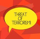 写恐怖主义的文本威胁词 不合法的用途暴力的企业反对平民的概念和威逼 库存例证