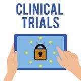 写文本临床实验的词 研究调查的企业概念对对显示的新的治疗 向量例证