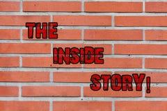 写文本内幕的词 企业概念对于知道严密地只显示包含的砖的信息 皇族释放例证