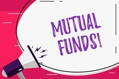 写文本基金的词 的企业概念投资基金在被多样化的藏品空白的股东贸易 皇族释放例证