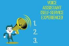 写文本声音辅助自已服务经验的词 人工智能闲谈马胃蝇蛆人的企业概念  库存例证