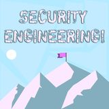 写文本安全工程学的词 焦点的企业概念在系统设计的安全方面  向量例证