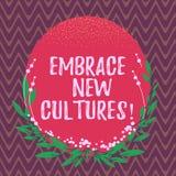 写文本容忍新的文化的词 Become的企业概念熟悉其他种族空白的传统 皇族释放例证