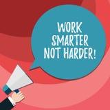 写文本工作更加聪明不更加坚硬的词 企业概念为是更加高效率的工作者高生产力胡分析 皇族释放例证